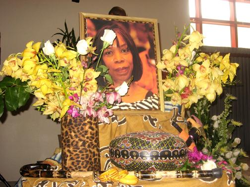 A memorial to Ave Montague at her funeral - Photo: Wanda Sabir