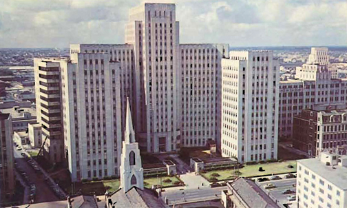 This is Charity Hospital as depicted on an old postcard. Why demolish it? Charity provided primary, emergency and chronic care for most uninsured people in Louisiana, which has the highest number of uninsured residents per capita in the United States. Nearby hospitals are threatened with financial collapse because of its closure.