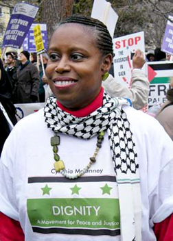 Happy Birthday, dear Cynthia! Cynthia McKinney is 54 years old today, March 17, 2009.