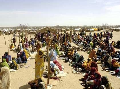 Providing humanitarian aid to refugees in Darfur is a