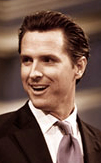 Gavin Newsom in a photo from his gubernatorial campaign website