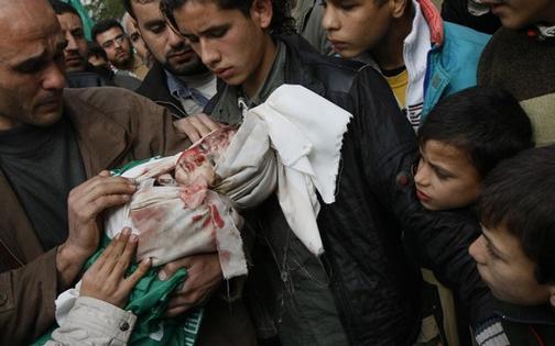 gaza-dead-baby-concerned-crowd-0109, The great debate: Hamas vs. the U.S. Senate, World News & Views