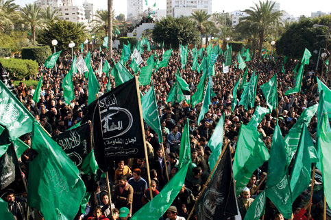 gaza-hamas-rally-after-israeli-ceasefire-012009-by-mohamed-al-zanon-maanimages, A decisive loss for Israel, World News & Views