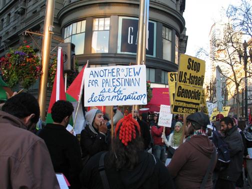gaza-protest-sf-010309-by-judith-scherr-2, Protesters condemn Israeli invasion of Gaza, Local News & Views