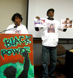 On Feb. 9, Gregory's parents, Denise and Gregory Johnson Sr., told the story of his suspicious death to a full house at a Black History Month event sponsored by the San Francisco State University Black Student Union. The audience was deeply moved. - Photo: Francisco Da Costa