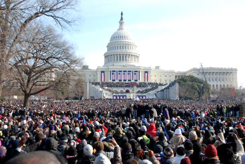 A view like this from the Washington Mall toward the Capitol during the inauguration was shared by about 1.8 million people. – Photo: Jim Wheaton