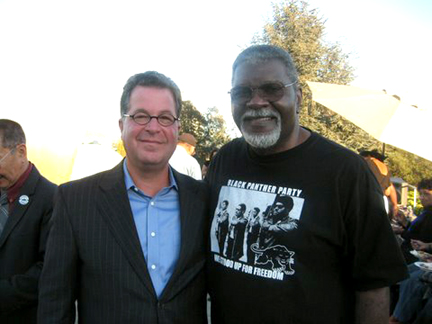 "Jeffrey Heyman, left, is the director of ""Merritt College: Home of the Black Panther Party,"" and Elbert ""Big Man"" Howard, one of the founders of the party, is featured in the film."