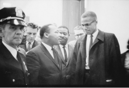 Martin Luther King and Malcolm