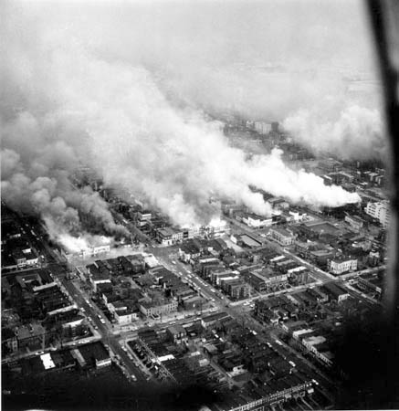 The assassination of Dr. King set the U.S. on fire. One of the 100 cities Mao mentions that were consumed by the firestorm was Washington, D.C., shown here April 5, 1968, the day after Dr. King died. In four days of rebellion, 1,200 buildings were burned and 12 people lost their lives. – Photo: AP