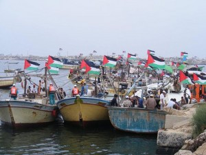 palestinian-fishing-boats-greet-free-gaza-boats-090408-300x225, Dispatches from Donna in Gaza, World News & Views