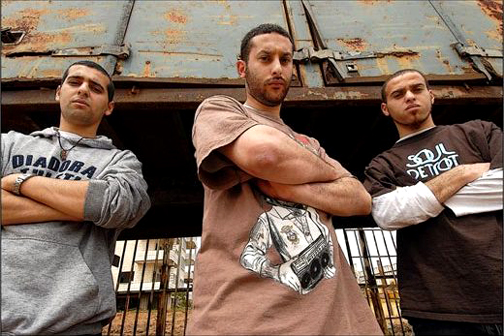 Mahmoud Jreri and the brothers Tamed and Suhell Nafar, Palestinians who live inside Israel, formed the first ever Palestinian hip-hop group in 1999 and have recently released their first internationally distributed album. Their name stands for Da Arabian MCs but, in Arabic, dam can mean immortal or blood, which is the same word in Hebrew, too.
