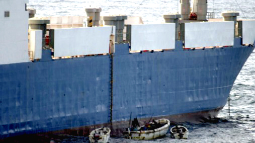 Somali pirate &#8220;ships&#8221; are small, but the ships they seize are huge. They held one gigantic tanker for months until ransom was paid.